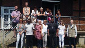 Bischof Mtumbuka und das Malawi-Team
